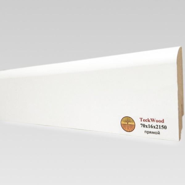 Белый прямой (70х16) TeckWood