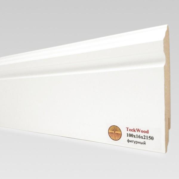 Белый фигурный (100х16) TeckWood