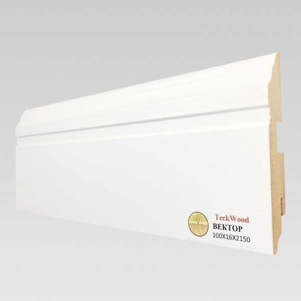 Белый Вектор (100х16) TeckWood