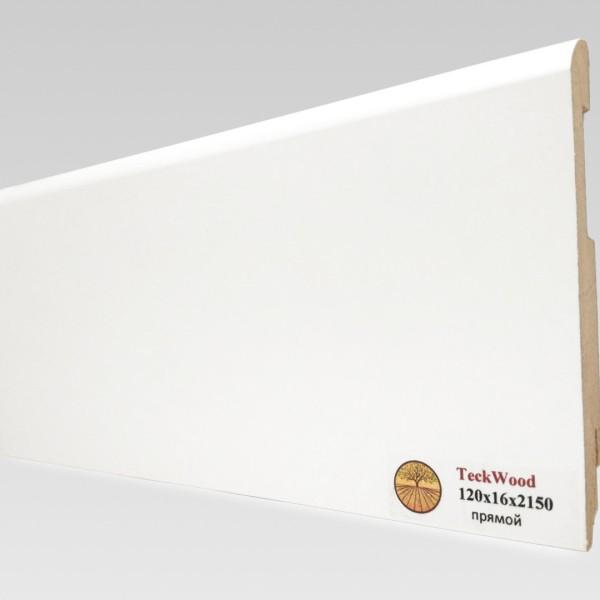 Белый прямой (120х16) TeckWood