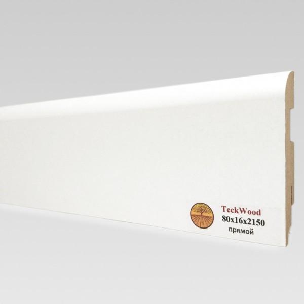 Белый прямой (80х16) TeckWood